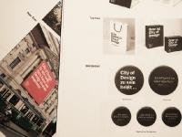 """""""City of Design"""" auf Tragetasche und Bierdeckel"""