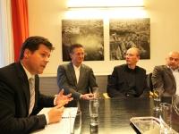 Stadtbaudirektor Bertram Werle, Rüdiger Lainer, Christoph Pichler und Much Untertrifaller