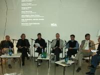 Reinhard Schafler, Wolfgang Ritsch, Fabian Wallmüller (Moderation), Walter Werschnig, Hans Gangoly, Andreas Tropper und Günter Koberg